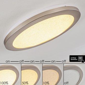 FASOLA Ceiling light LED matt nickel, 1-light source
