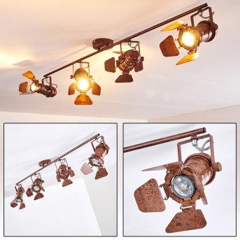 Lichinga ceiling spotlight rust-coloured, 4-light sources