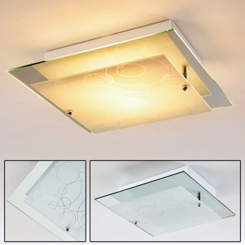 Riad ceiling light transparent, clear, 2-light sources