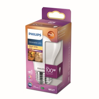 Philips LED E27 13 Watt 2700 Kelvin 1520 Lumen Warm Glow