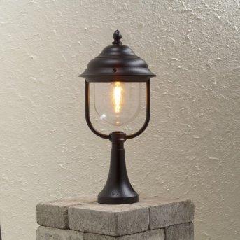 Konstsmide Parma pedestal light black, 1-light source
