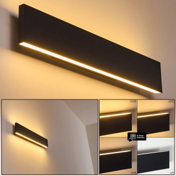 OBION Wall Light LED black, 2-light sources