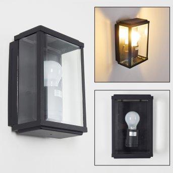 TIEVA outdoor wall light black, 1-light source
